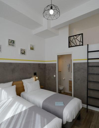 Chambre spacieuse, dans notre boutique hôtel à Paris, l'hôtel Terre Neuve.